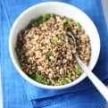 Healthy pan-fried buckwheat Vegan